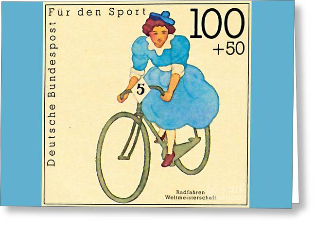 Cycling Women Wm Greeting Card