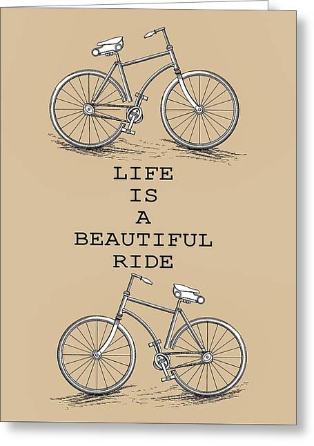 Cyclist Poster Greeting Card by Dan Sproul