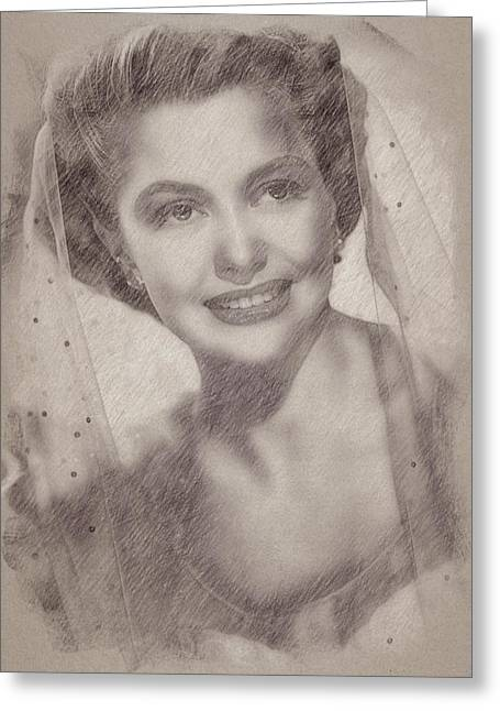 Cyd Charisse Greeting Card by Esoterica Art Agency