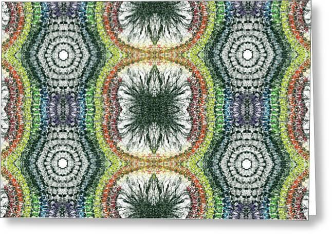 Cymatics Geometry #1546 Greeting Card by Rainbow Artist Orlando L aka Kevin Orlando Lau