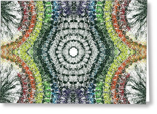 Cymatics Geometry #1548 Greeting Card