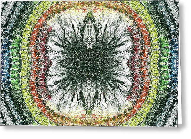 Cymatics Geometry #1550 Greeting Card
