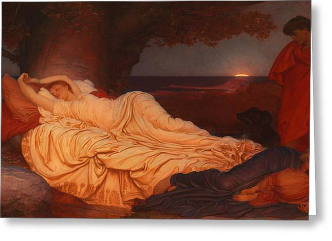 Cymon Looks Down On The Sleeping Iphigenia Greeting Card by Celestial Images
