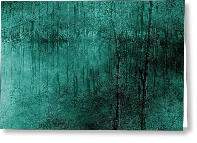Cypress Bayou Abstract Greeting Card by Betty Northcutt