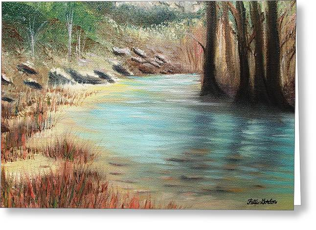 Cypress Bend Greeting Card by Patti Gordon