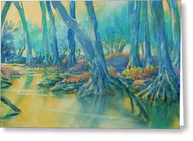 Cypress Creek Morning No 1 Greeting Card by Virgil Carter