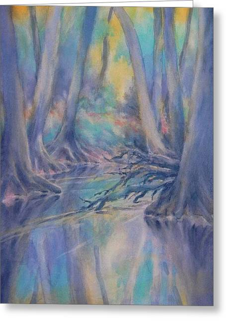 Cypress Creek Sunrise Greeting Card by Virgil Carter