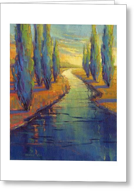 Cypress Reflection Greeting Card
