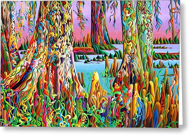 Cypress Spirit Rising Greeting Card