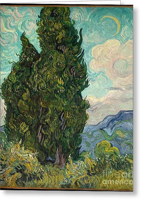 Cypresses  Greeting Card by Vincent van Gogh