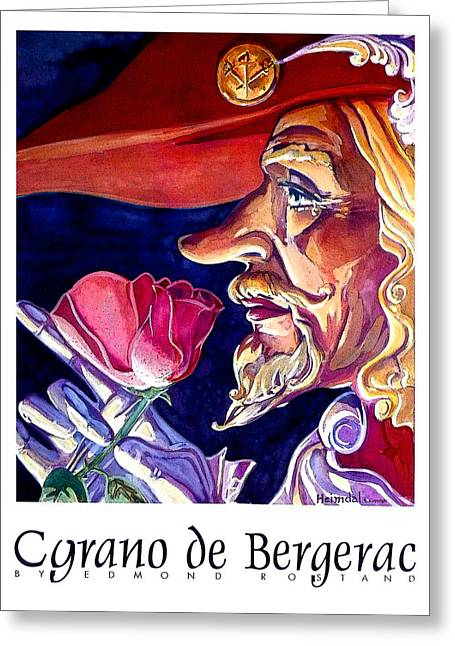 Greeting Card featuring the painting Cyrano by Tim  Heimdal