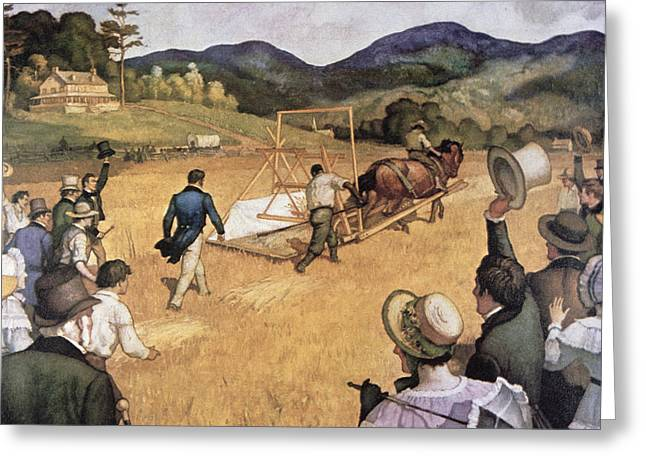 Cyrus H Mccormick And His Reaping Machine Greeting Card