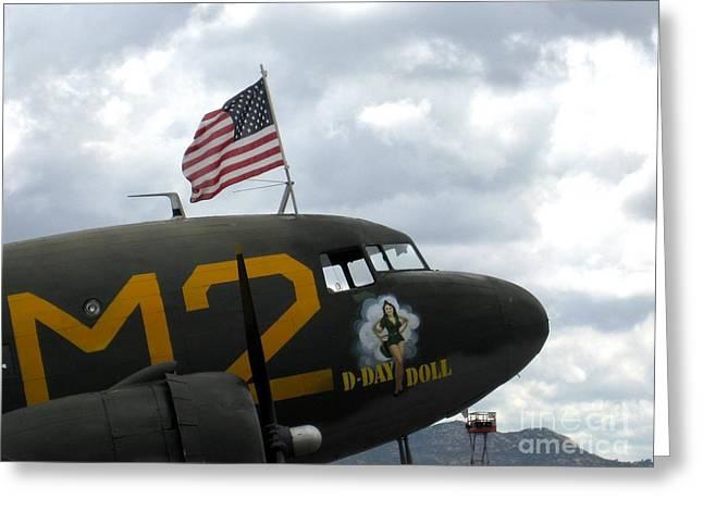 Douglas C-53d - D Day Doll Greeting Card