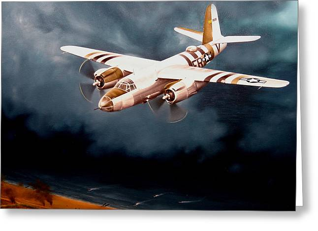 D-day Support Greeting Card by Marc Stewart