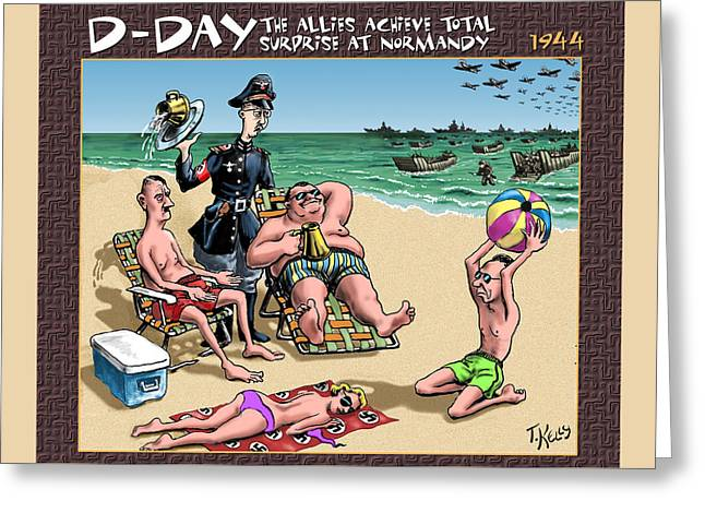 D-day - The Allies Achieve Total Surprise At Normandy Greeting Card by Travis Kelly