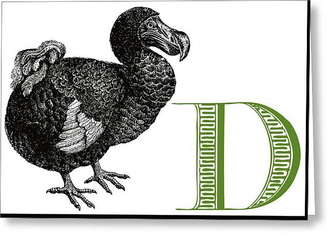 D Dodo Greeting Card