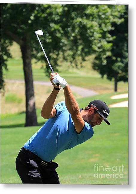 Pga Golfer Dustin Johnson Greeting Card by Douglas Sacha