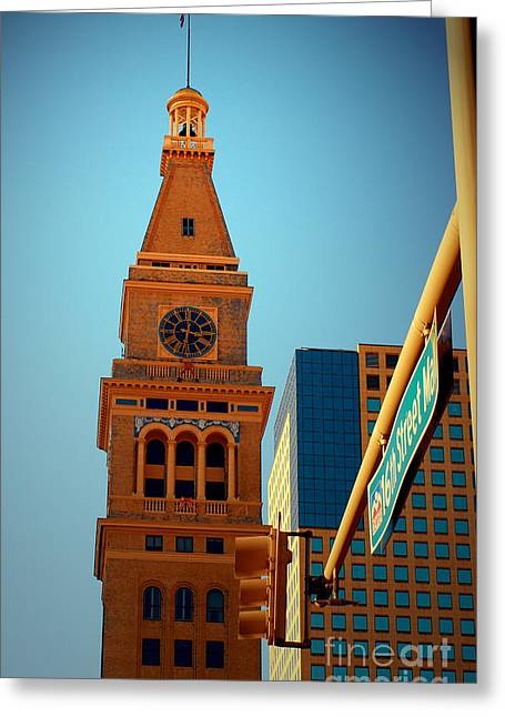 D-f Clock Tower Greeting Card