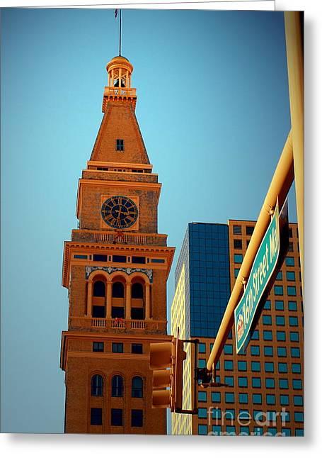 D-f Clock Tower Greeting Card