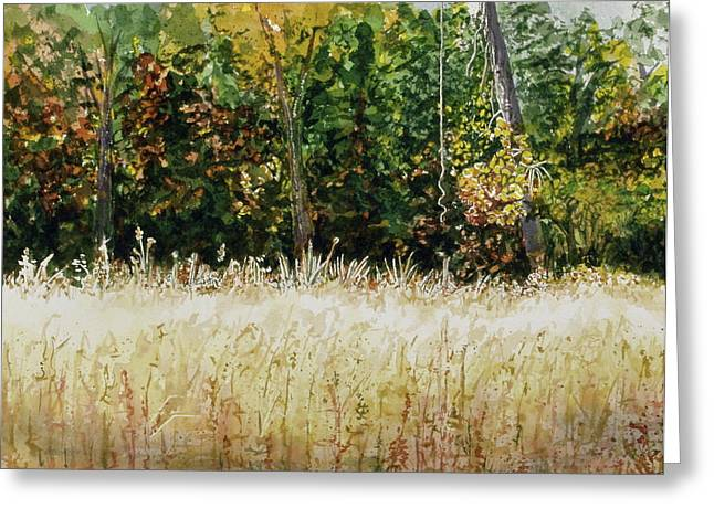 Greeting Card featuring the painting D Vine by Lynn Babineau