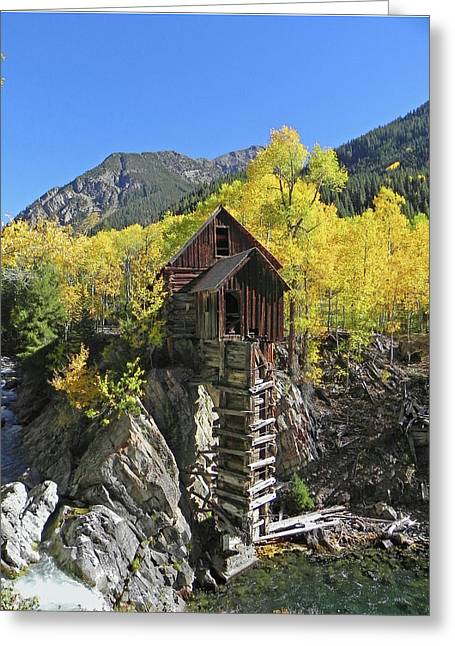 D10426 Crystal Mill At The Crystal River Greeting Card by Ed Cooper Photography