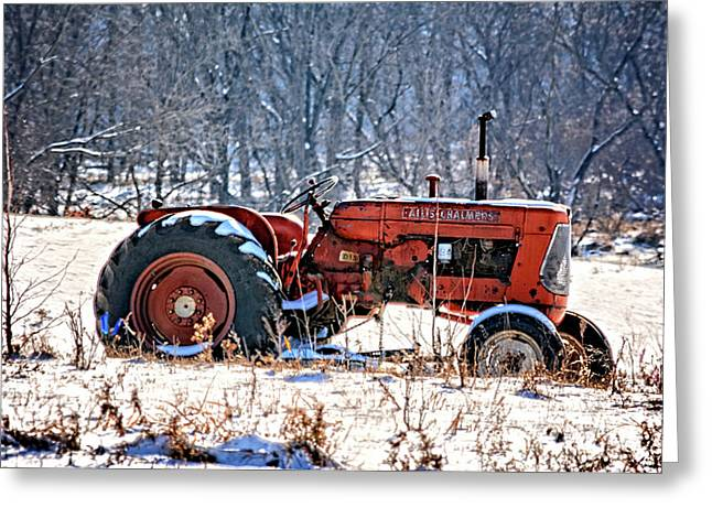 D15 Allis Chalmers Greeting Card by Bonfire Photography