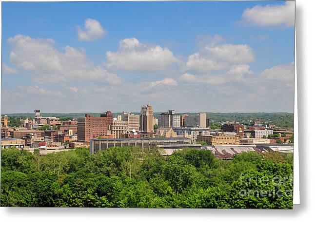 D39u118 Youngstown, Ohio Skyline Photo Greeting Card