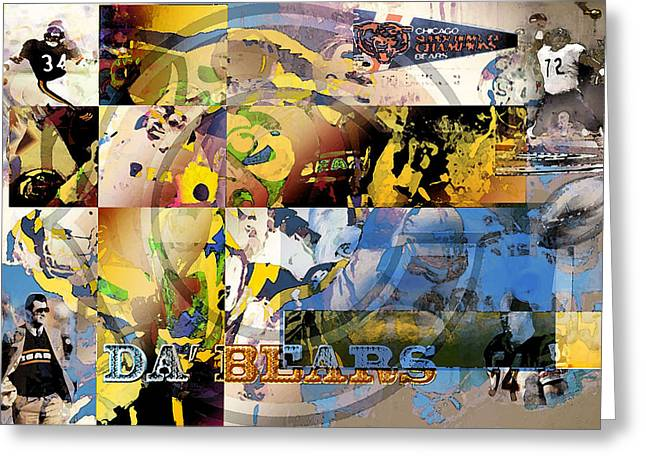 Da Bears V3 Greeting Card by Jimi Bush