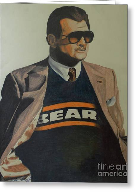 Da Coach Ditka Greeting Card