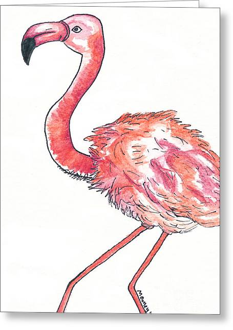 Da Flamingo Greeting Card