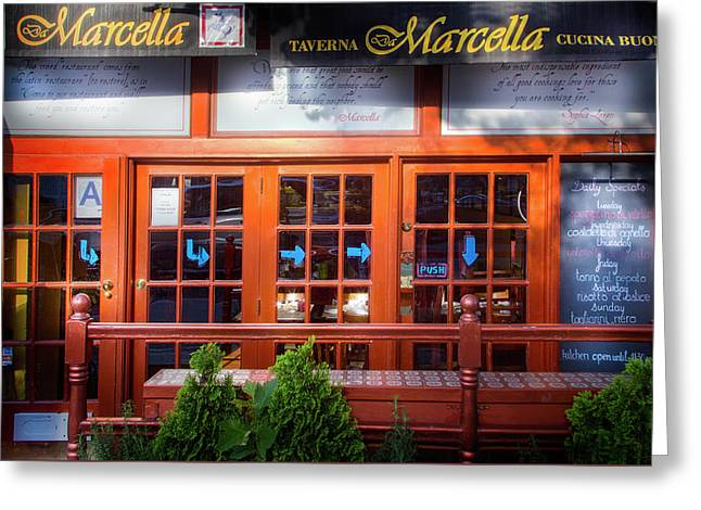 Da Marcella Tavern Greeting Card by Mark Andrew Thomas