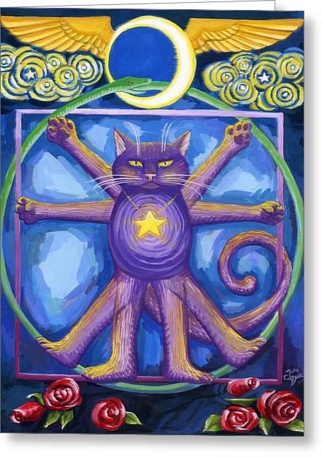Da Vinci Cat Greeting Card
