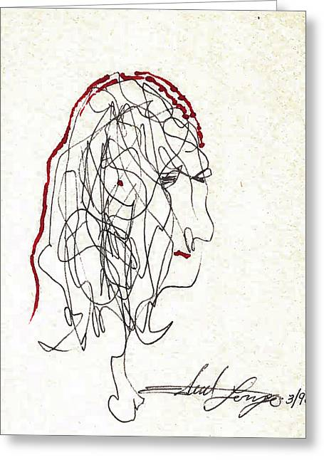 Da Vinci Drawing Greeting Card