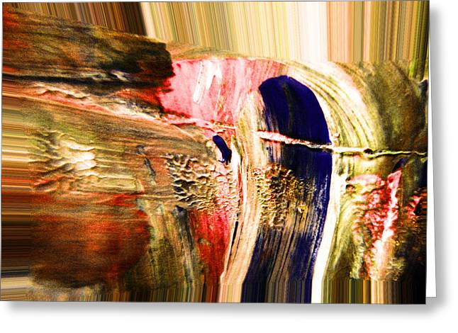 Dabbed Abstract Greeting Card by Jeff Swan