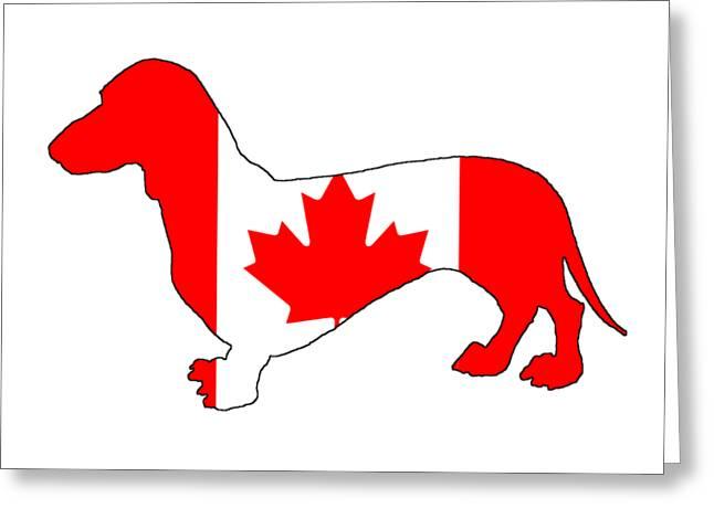 Dachshund Canada Greeting Card