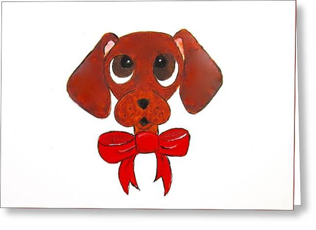 Dachshund Cartoon Greeting Card by Carol Blackhurst