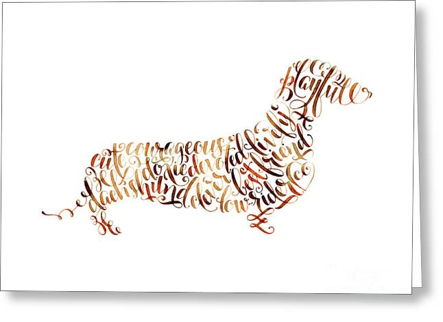 Dachshund Greeting Card by Laura Bell