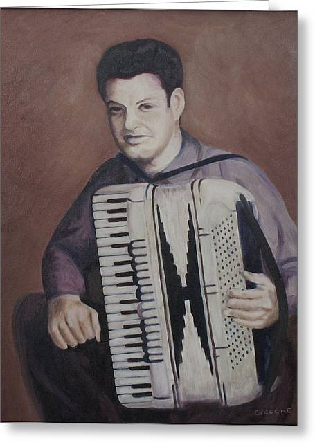 Daddy And His Accordion Greeting Card