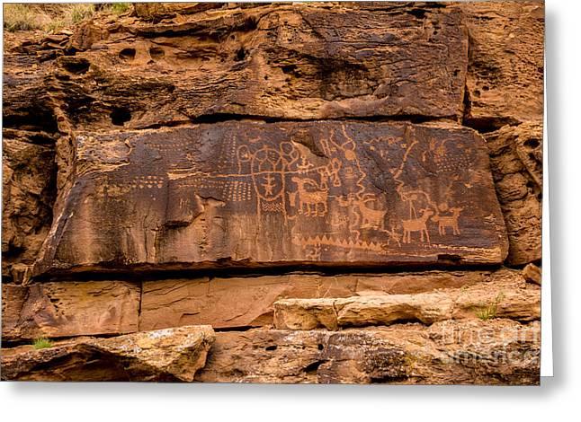 Daddy Canyon Petroglyph - Nine Mile Canyon - Utah Greeting Card by Gary Whitton