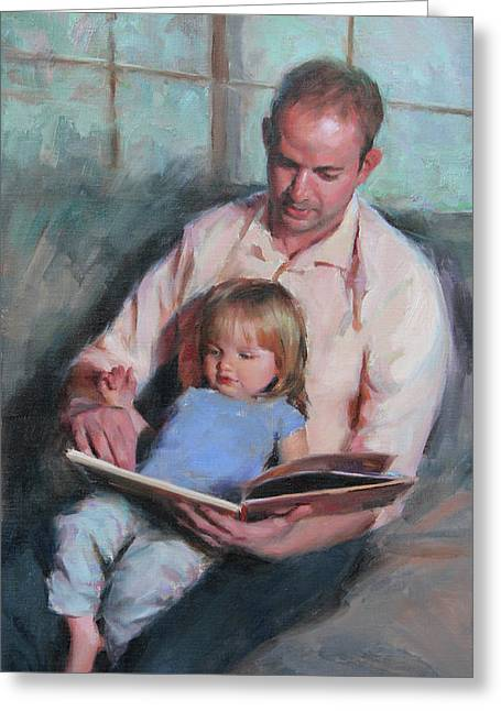 Daddy's Girl Greeting Card by Anna Rose Bain