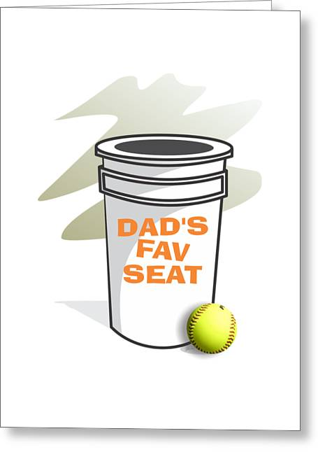Dad's Fav Seat Greeting Card by Jerry Watkins