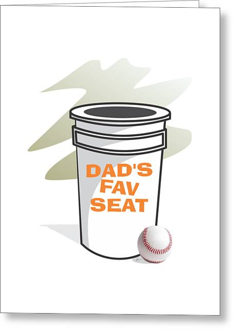 Dad's Favorite Seat Greeting Card by Jerry Watkins
