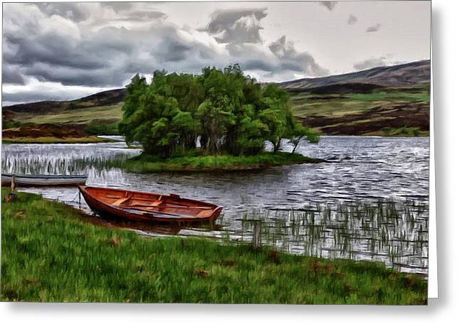 Greeting Card featuring the painting Dads Fishing Spot P D P by David Dehner