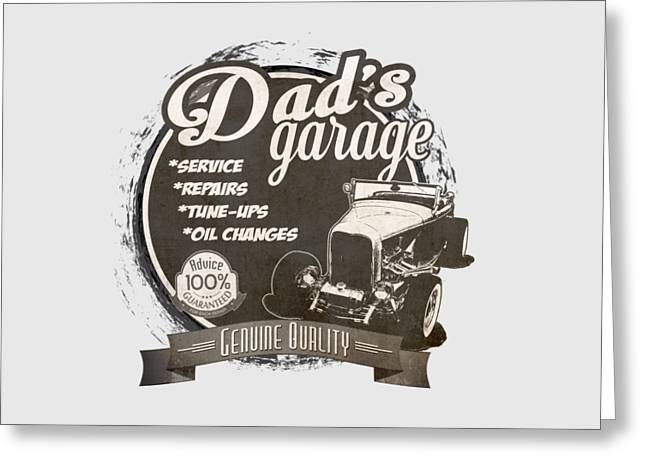 Dad's Garage-1932 Ford Greeting Card by Paul Kuras