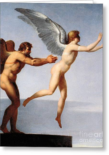 Daedalus And Icarus, 1799 Greeting Card