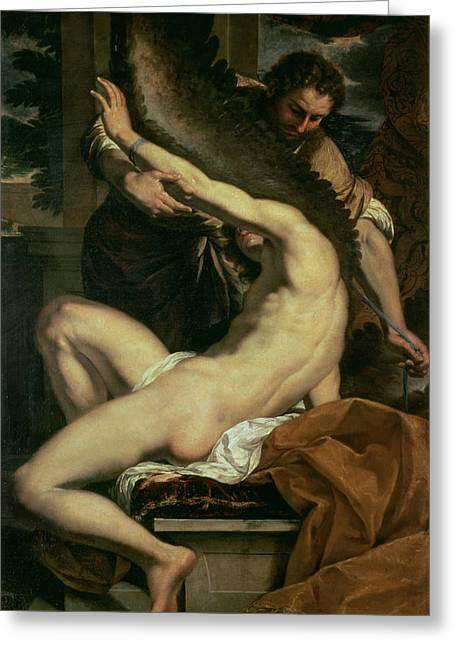 Daedalus And Icarus Greeting Card by Charles Le Brun