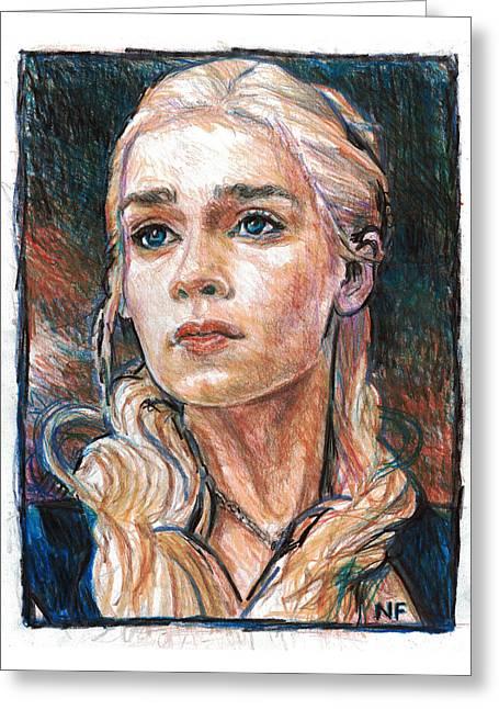 Daenerys Targaryen - Mother Of Dragons Greeting Card