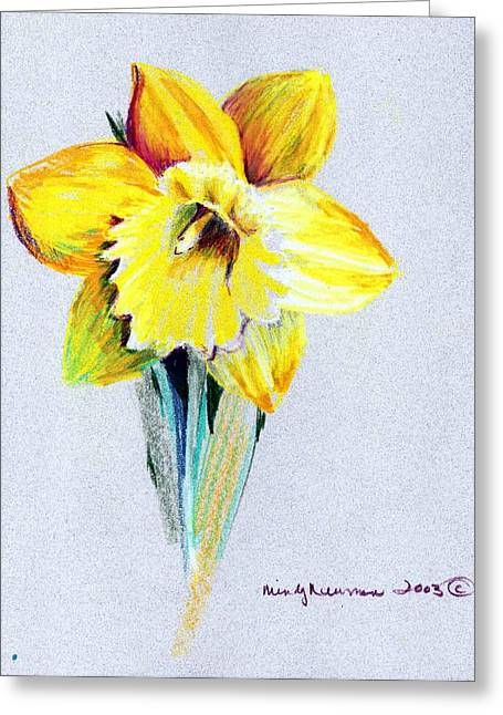 Daffodil Greeting Card by Mindy Newman