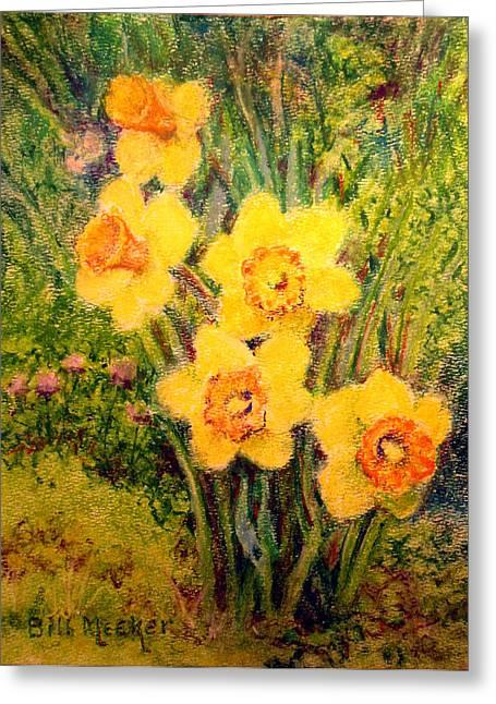 Daffodil Quintet Greeting Card by Bill Meeker