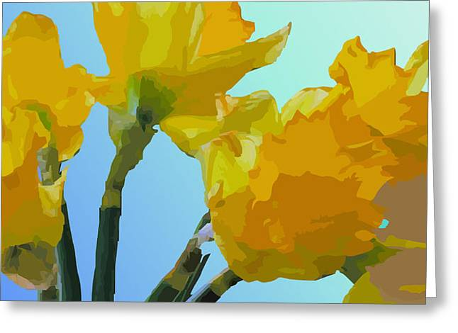 Daffodils Greeting Card by Robert Bissett